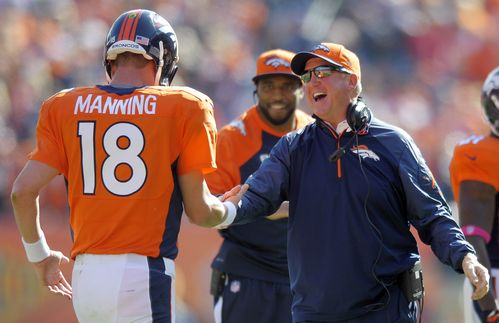 Broncos Peyton Manning talks about playing the Col...