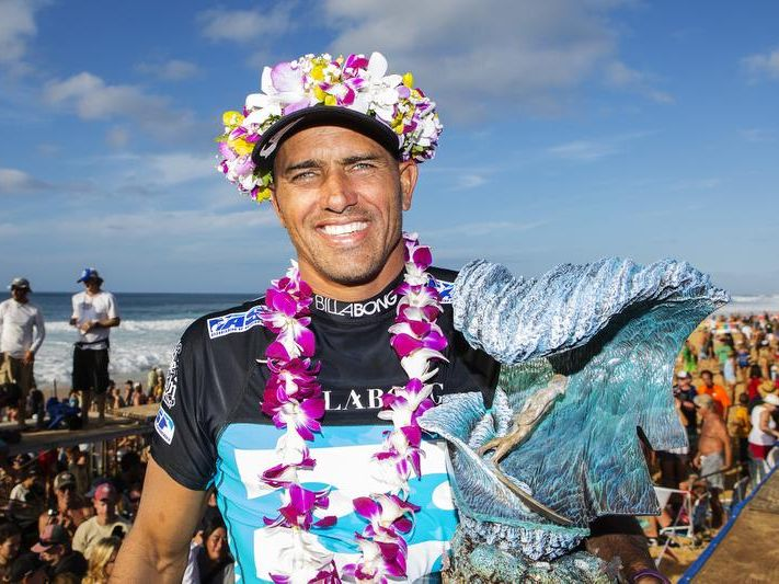 Kelly Slater of Cocoa Beach captured his seventh Pipe Masters title in Hawaii in 2013.