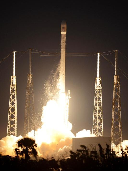 A SpaceX Falcon 9 rocket lifts off from Cape Canaveral Air Force Station on Dec. 3, 2013.